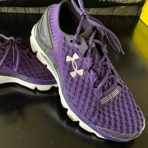 Under armour purple tennis shoes speedform 6